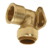 Brass Push Fit 15mm x 1/2 Outside Tap Wall Fitting - 27151500